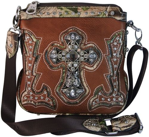 8534a90f36 Montana West Cross Body Bag Faux Leather Purse with Camo Trim and ...
