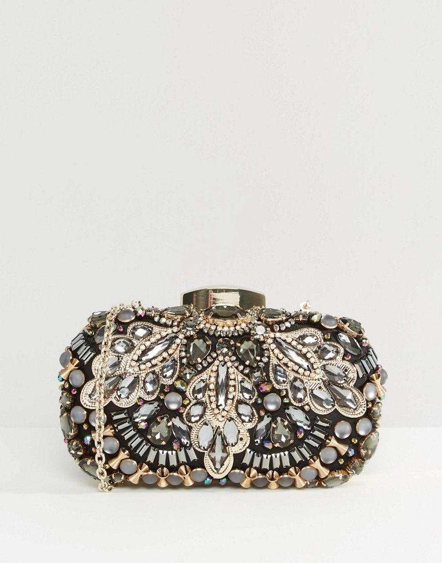 ce794ab31f97 Image 1 of ALDO Beaded Box Clutch Bag