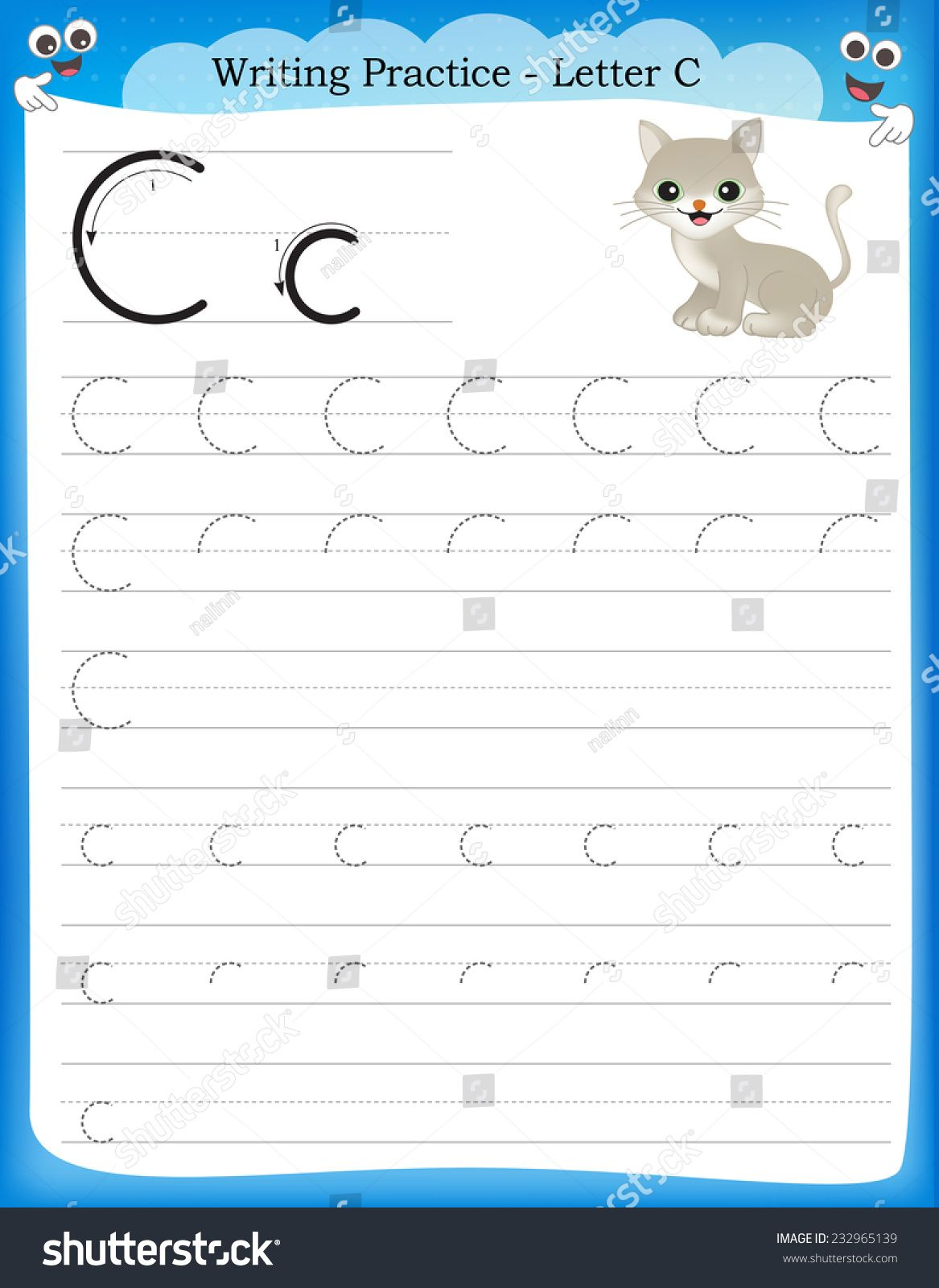 Practice Writing Letters Printable Worksheets 26