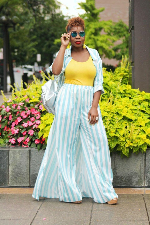STRIPED PALAZZO 2 PIECE SET Style, Striped, Fashion