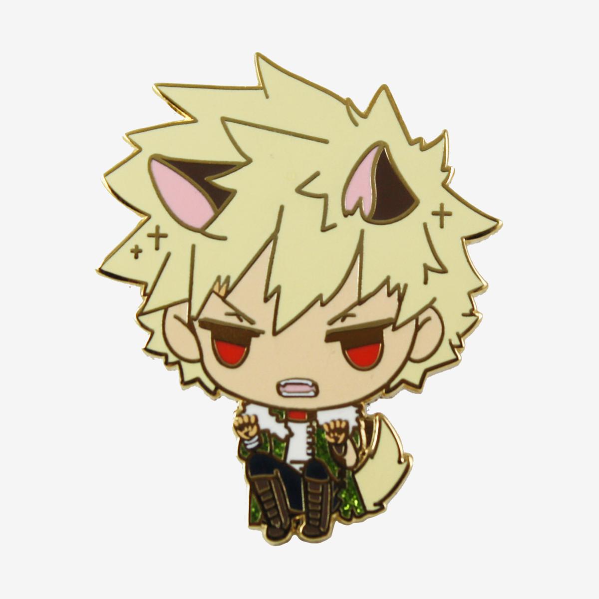 Pre Order My Halloween Academia Bakugou Katsuki Cat Enamel Pin Xiumai