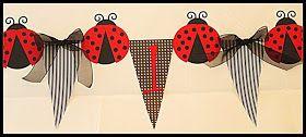Ladybug Party Highchair Banner