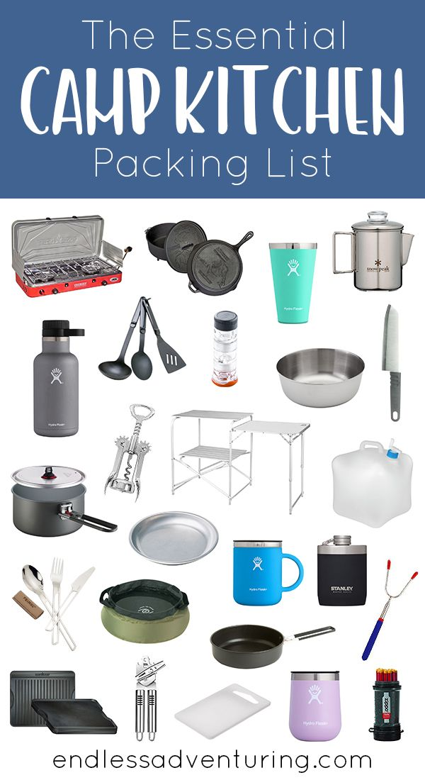 the essential camp kitchen packing list a list of everything you will need to complete your on outdoor kitchen essentials id=15627