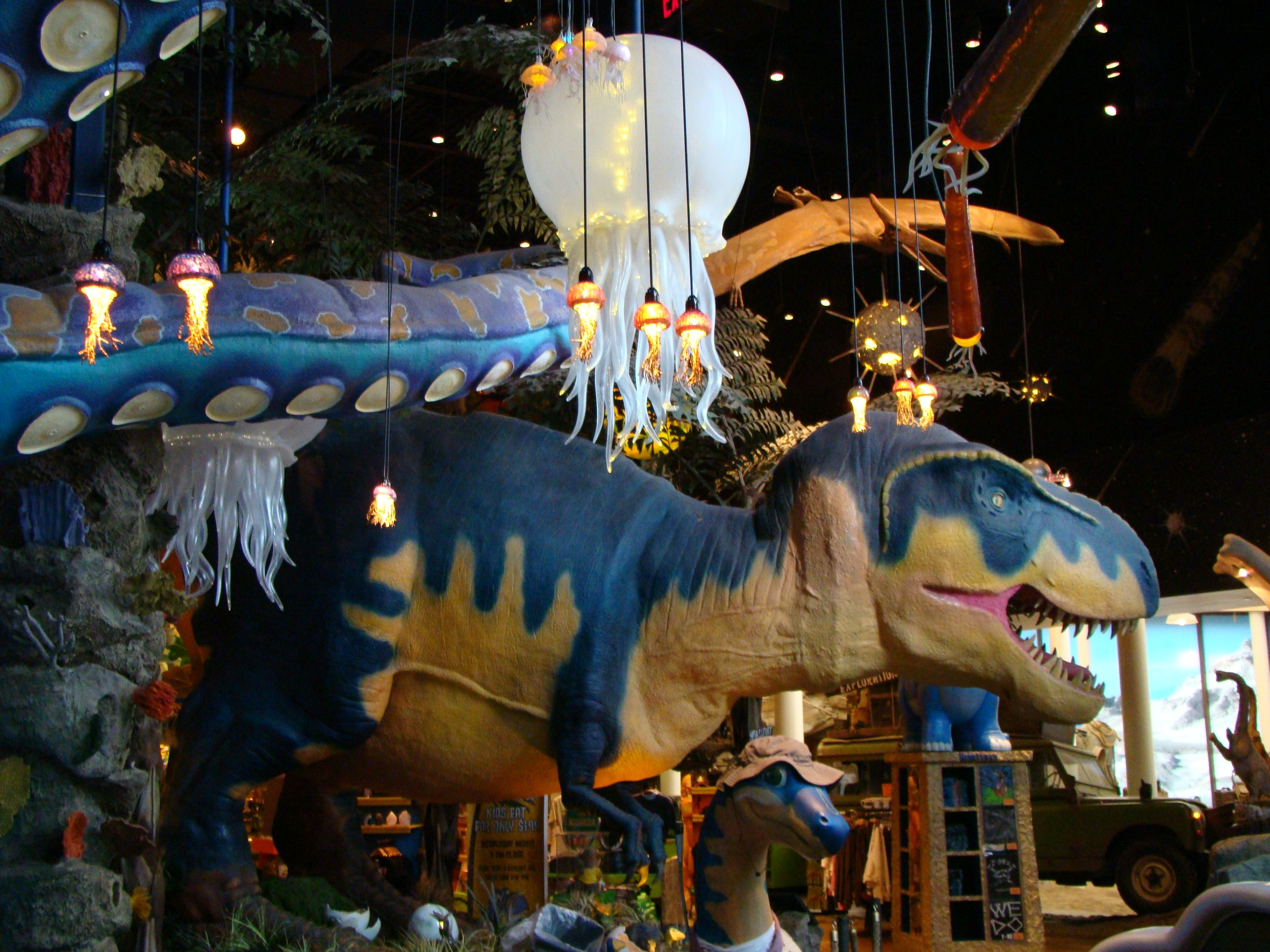 Be transported to a prehistoric world with animatronic