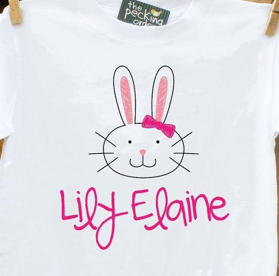 Easter tshirt girls easter bunny head personalized by zoeysattic easter tshirt girls easter bunny head personalized by zoeysattic 1650 negle Images