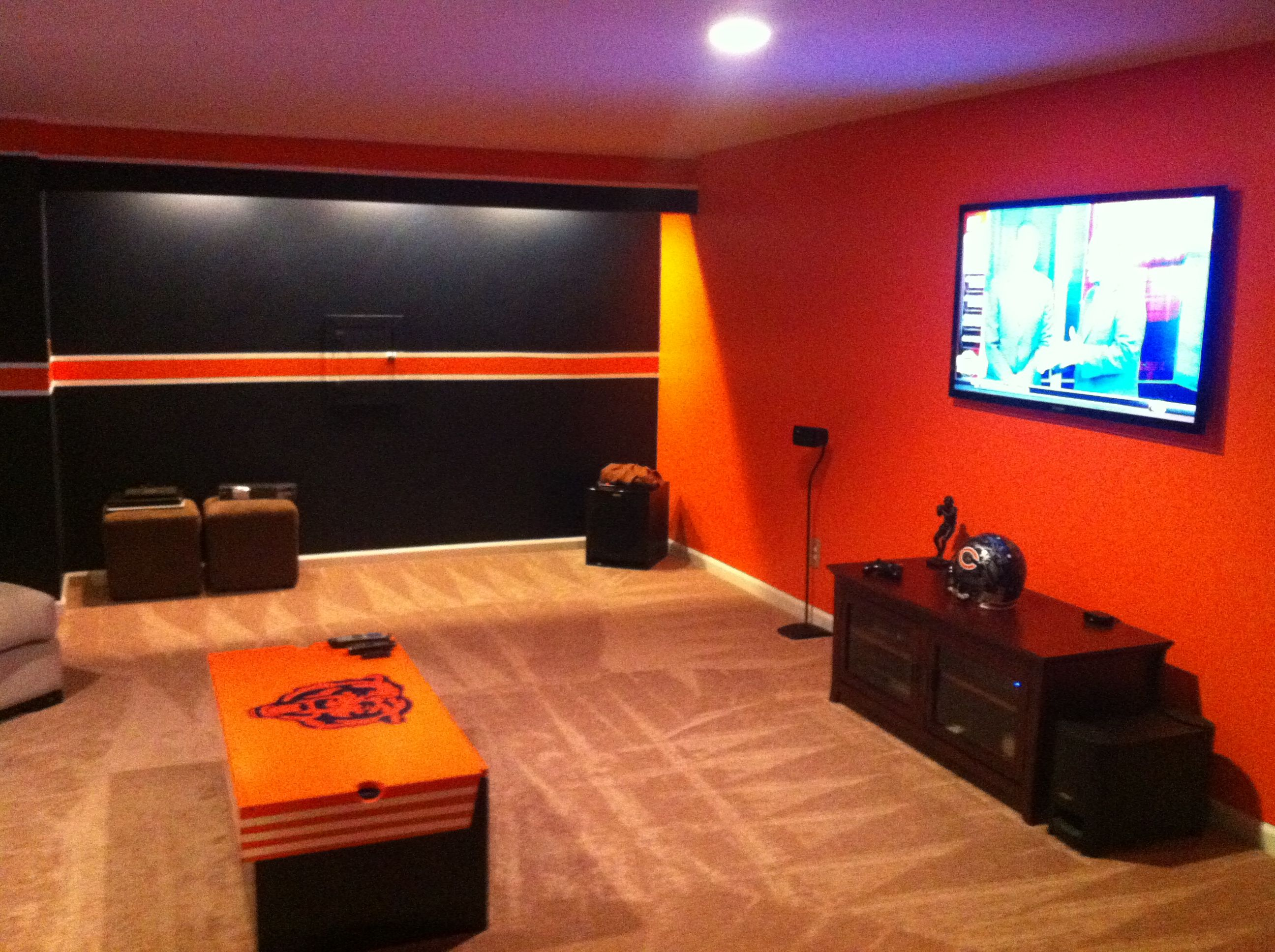 Nfl Man Cave Ideas : Chicago bears man cave montys pinterest