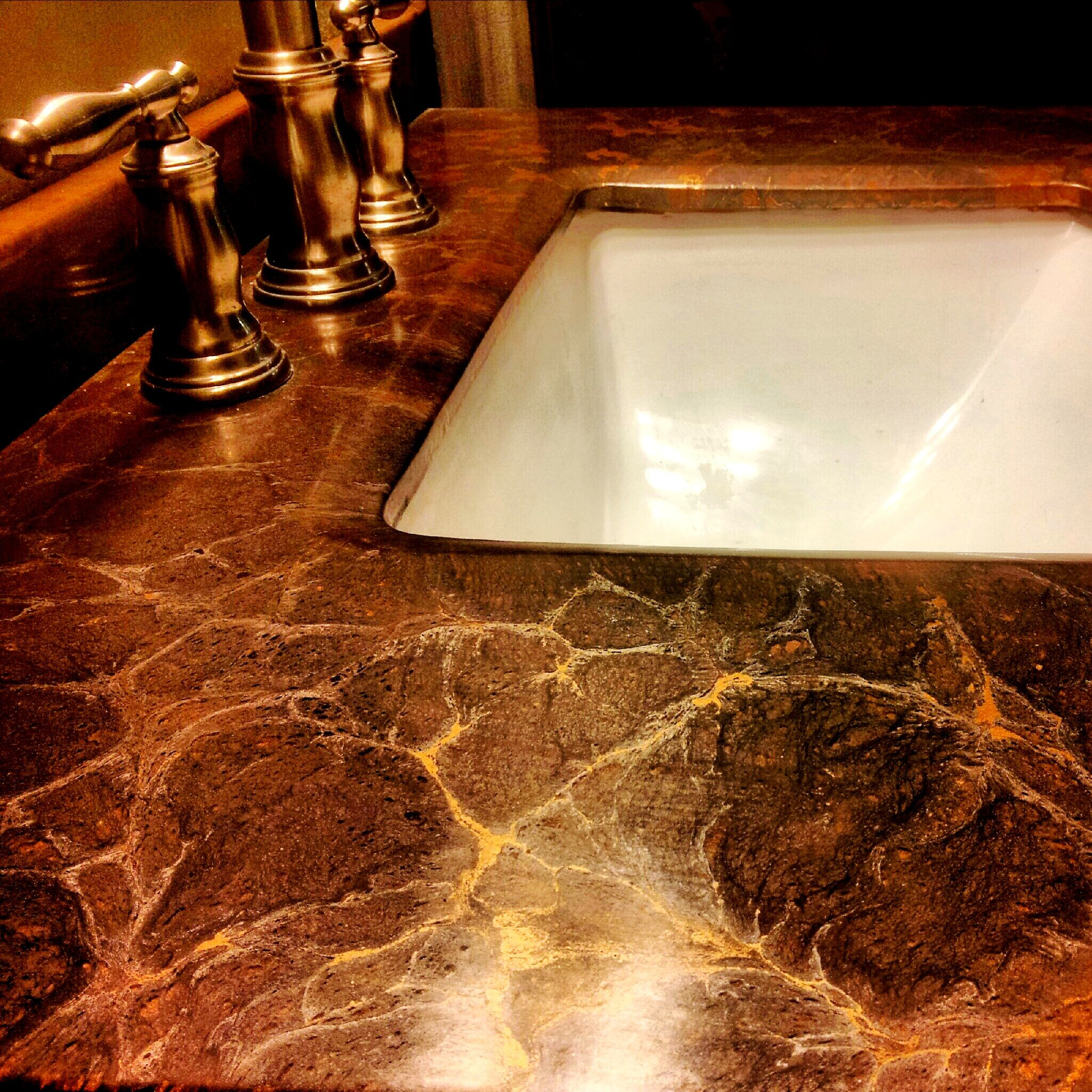 Countertop Epoxy Paint Brown With Gold Accents Kitchen Pinterest