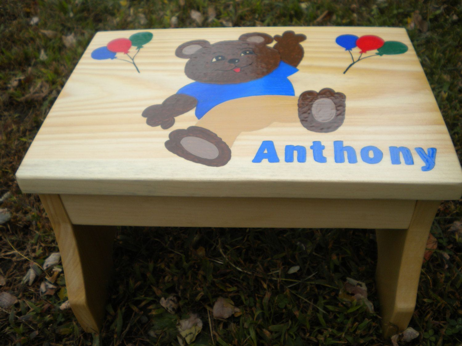 Children S Step Stool Teddy Bear Stool Child S Name