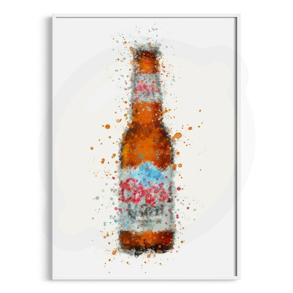 P0124 Beer Bottle Wall Art Print Liquor Bar Pub Restaurant Ebay In 2020 Wall Art Prints Bottle Wall Liquor Bar