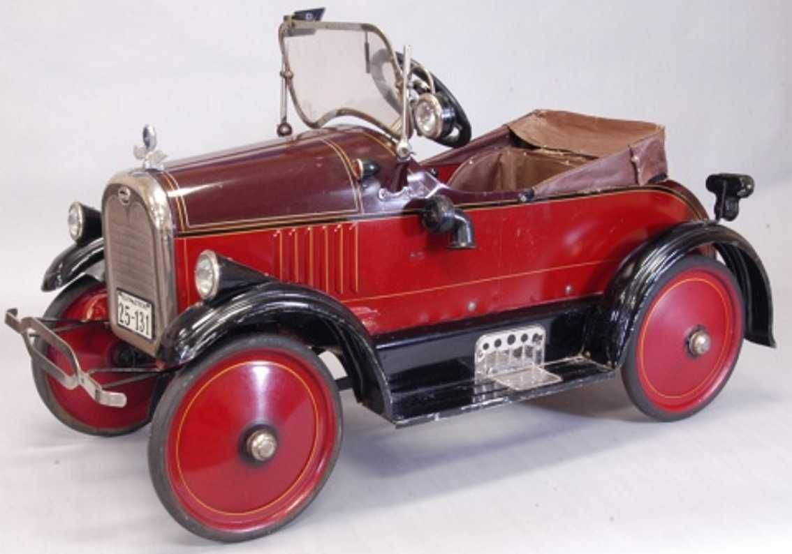 TOLEDO WHEEL COMPANY Tin-pedal cars Toledo Pierce arrow pedal car pai