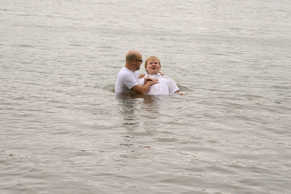 Baptism in the Rhine River