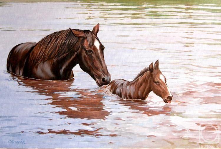 Картина «Урок плавания» | Американский пейнтхорс, Картины ...