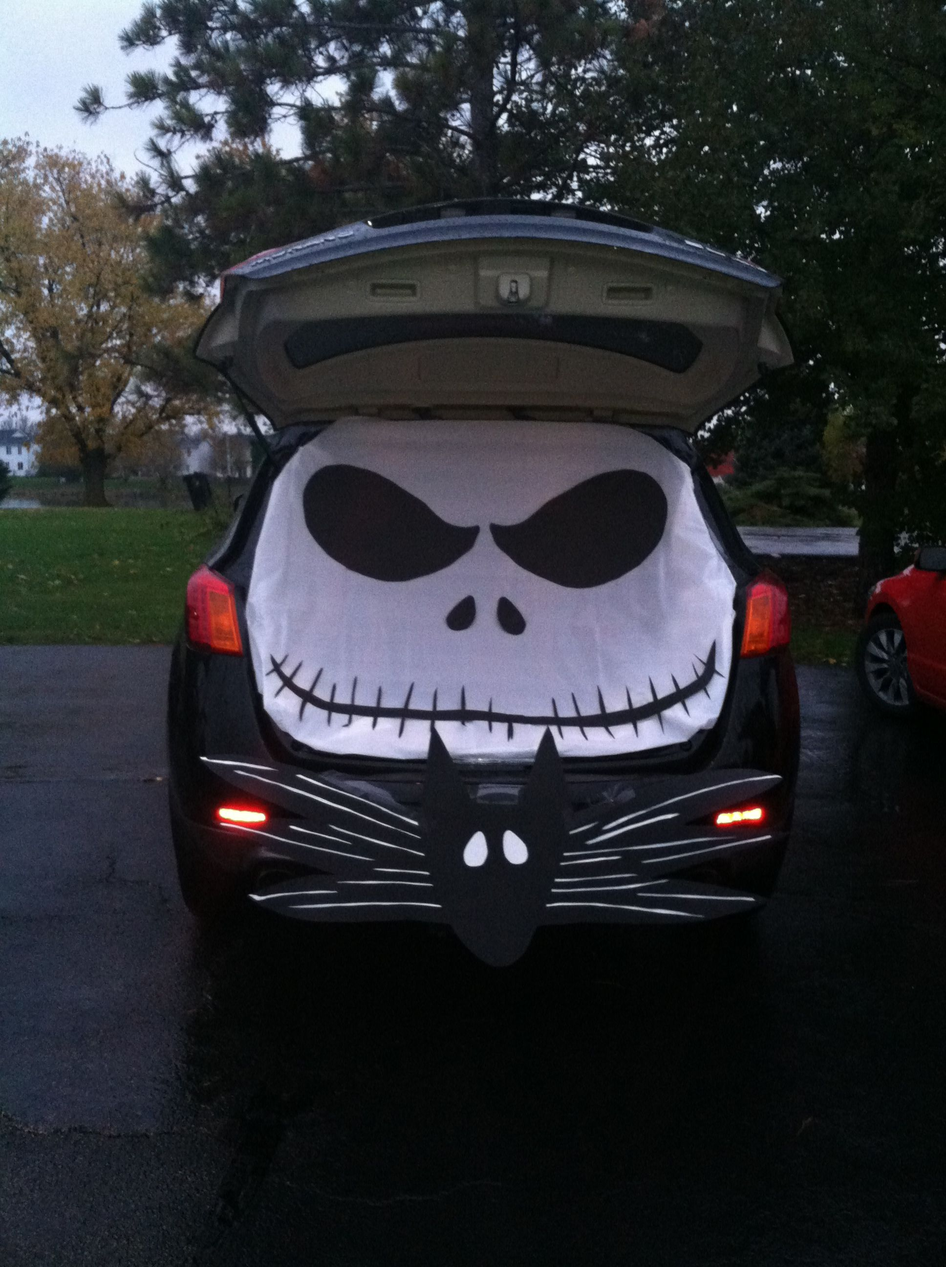 Jack skellington trunk-or-treat. Our car at our sons school trunk-or ...