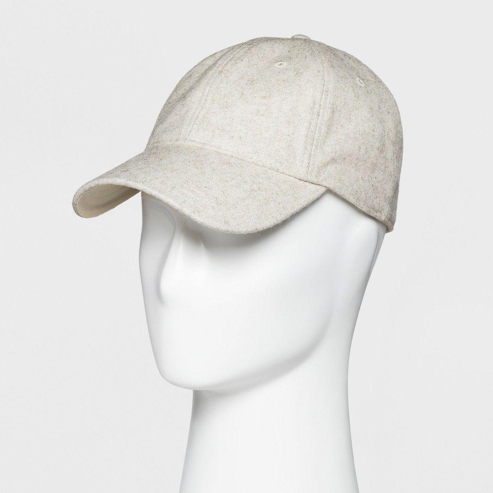 37426edebc584 Men s Wool Blend Curved Visor Baseball Cap - Goodfellow   Co Grey One Size