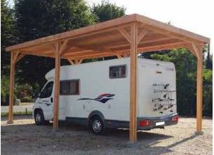 Abri Camping Car Bois Douglas 4 08 X 8 11 M Carport Designs Car Camping Rv Carports
