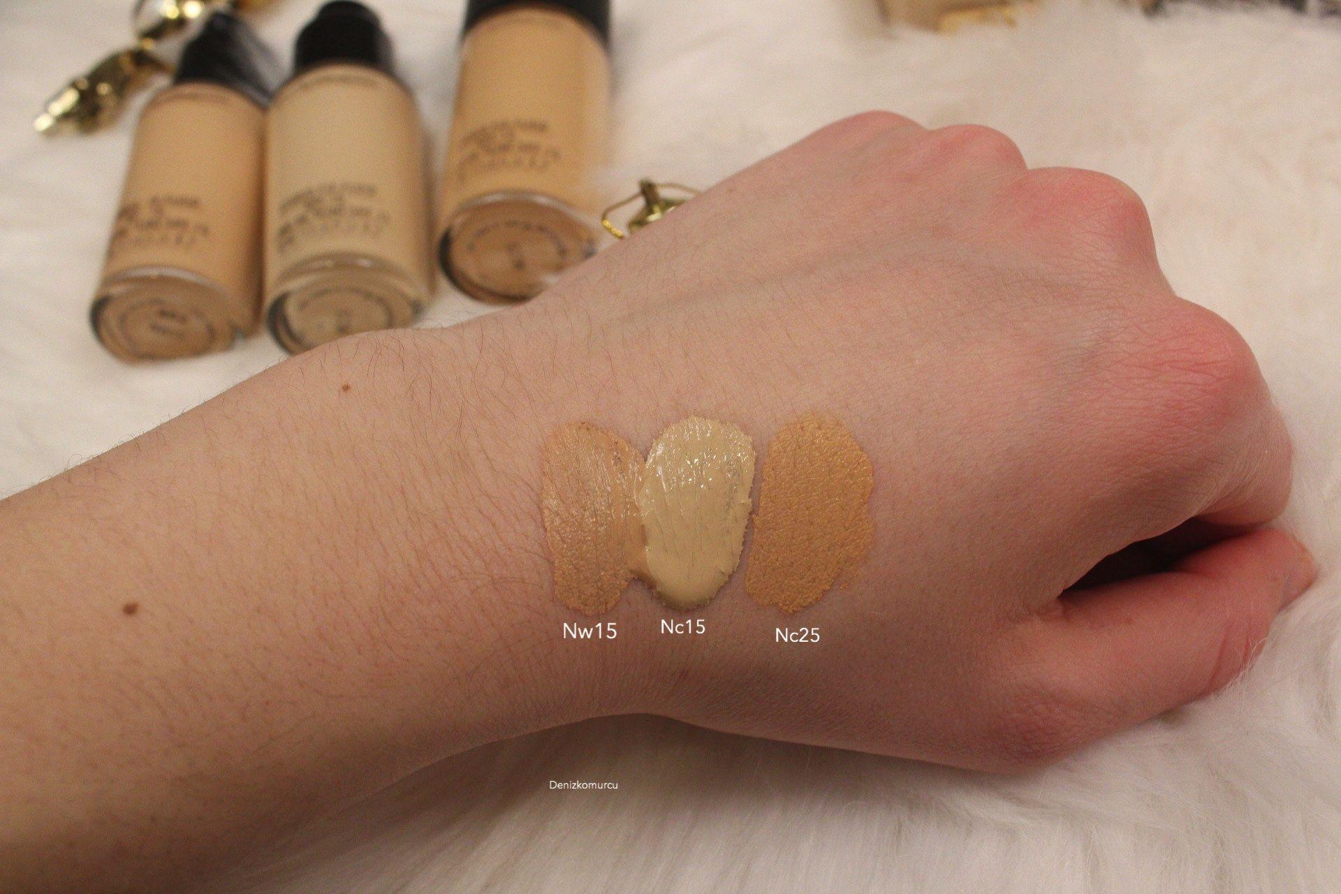 mac studio fix foundation nc15 nc25 nw15 swatch im a makeup addict