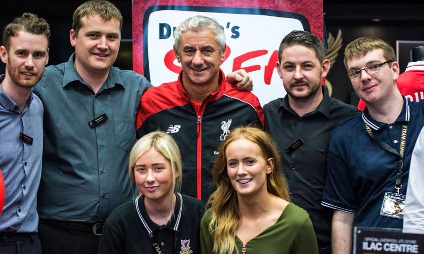 Ian Rush marks the first anniversary of the Dublin branch of the Liverpool shop.