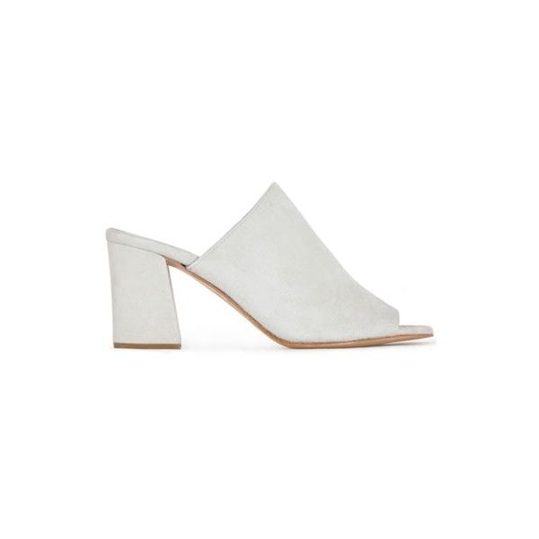 Maryam Nassir Zadeh Off White Penelope Slide ($391) ❤ liked on Polyvore featuring shoes, sandals, maryam nassir zadeh, champagne sandals, off white shoes, off white sandals and champagne shoes