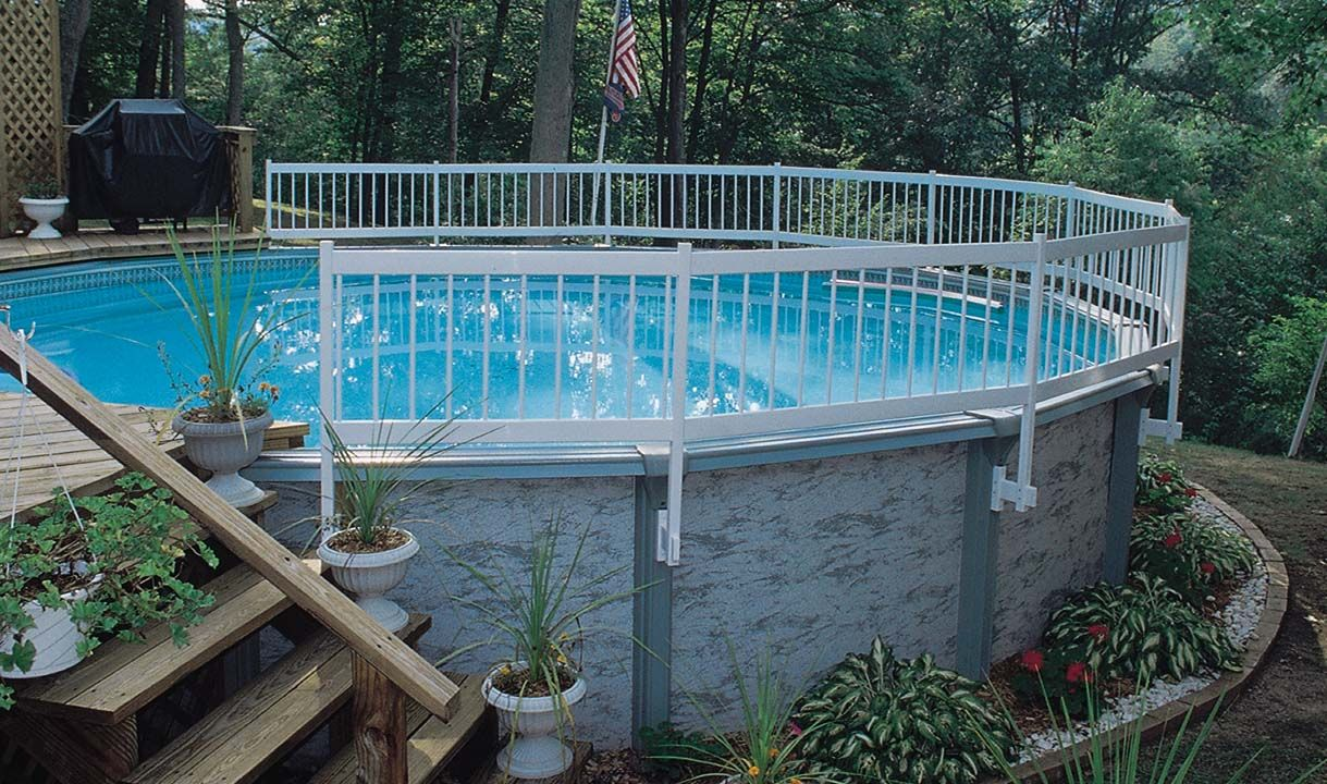 Above Ground Swimming Pool Landscaping The Modular Fence Is Made From Sturdy Yet Lightweight Rustproof