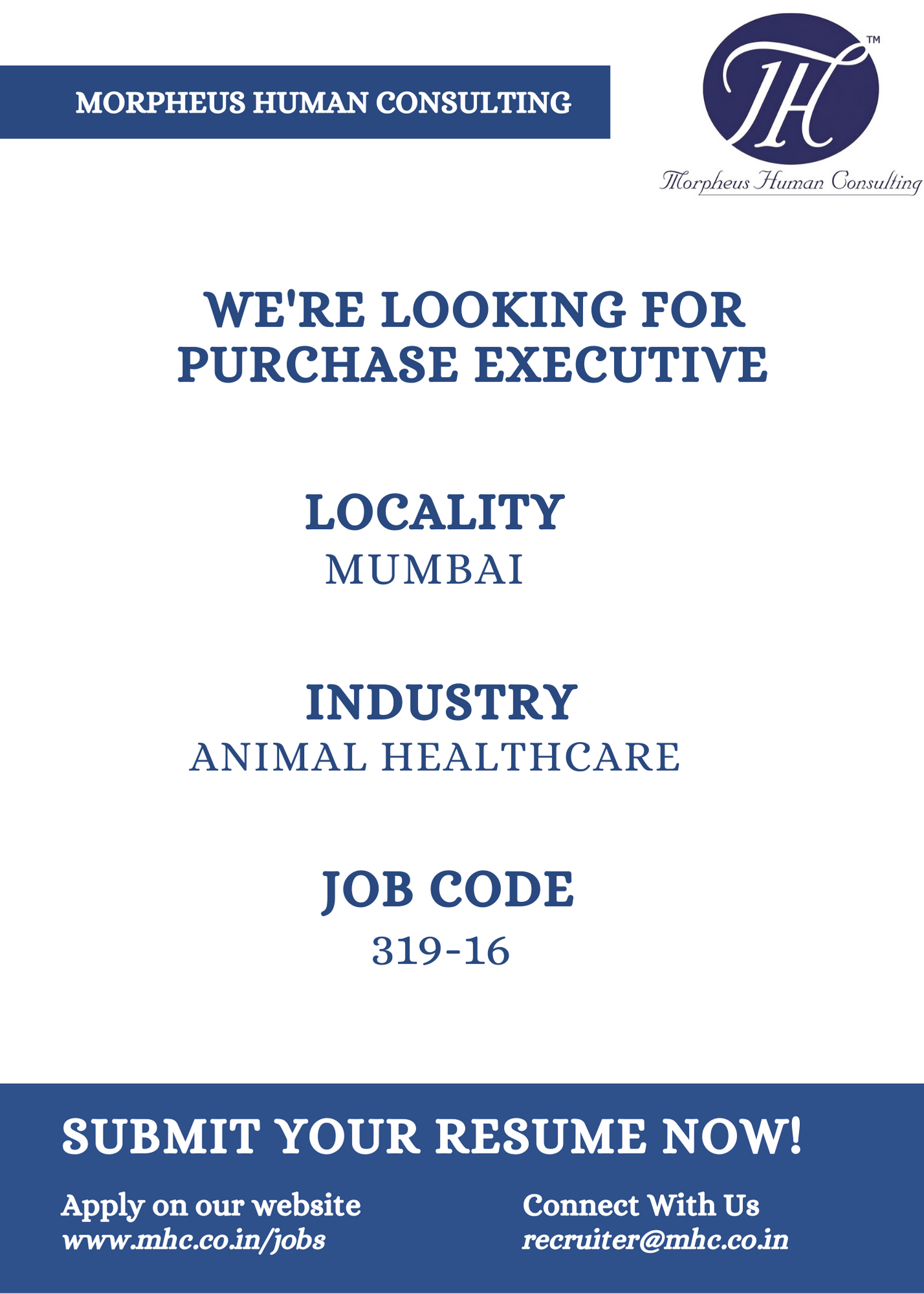 We Are Looking Candidate For Purchase Executive In Animal