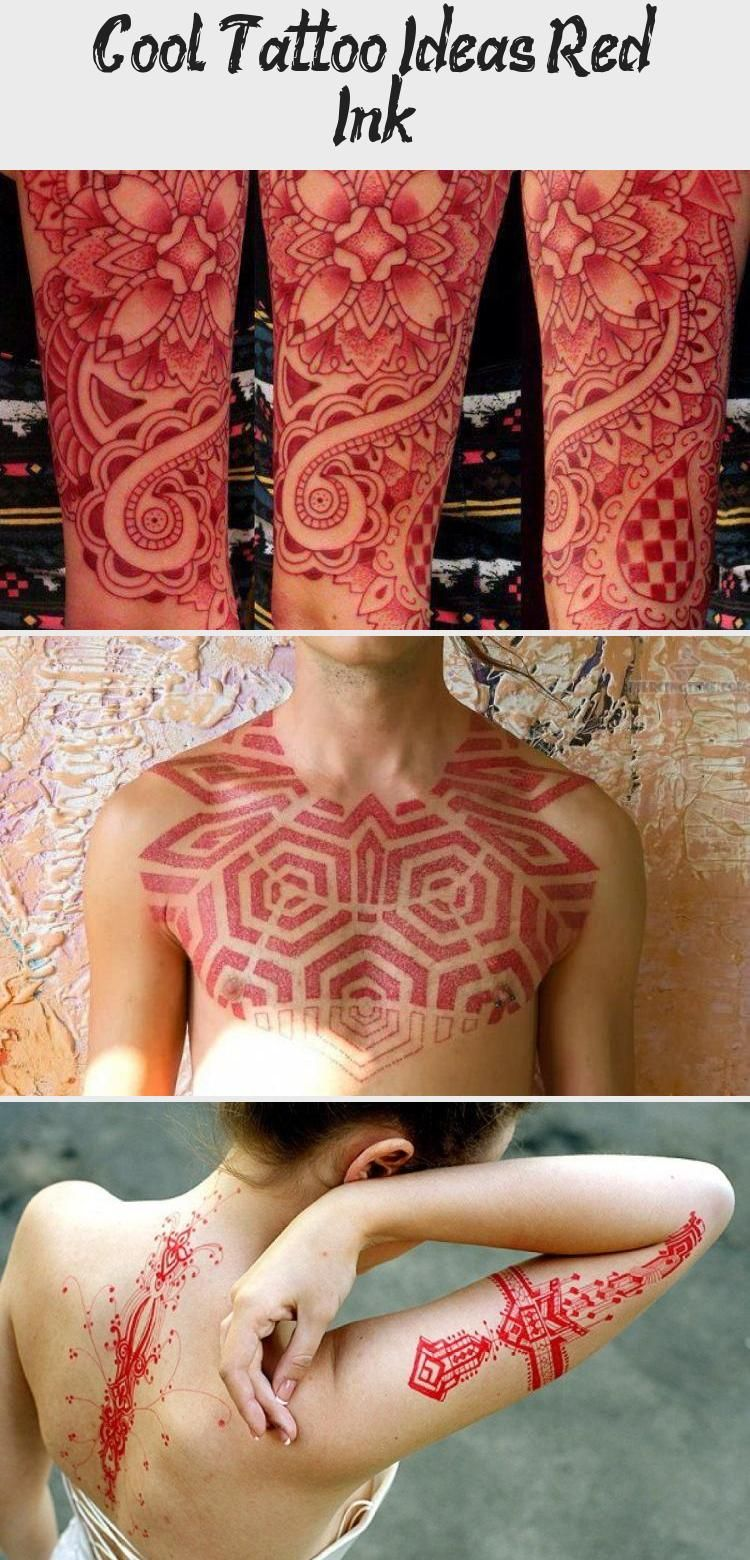 Cool Tattoo Ideas Red Ink in 2020 Red ink, Cool tattoos
