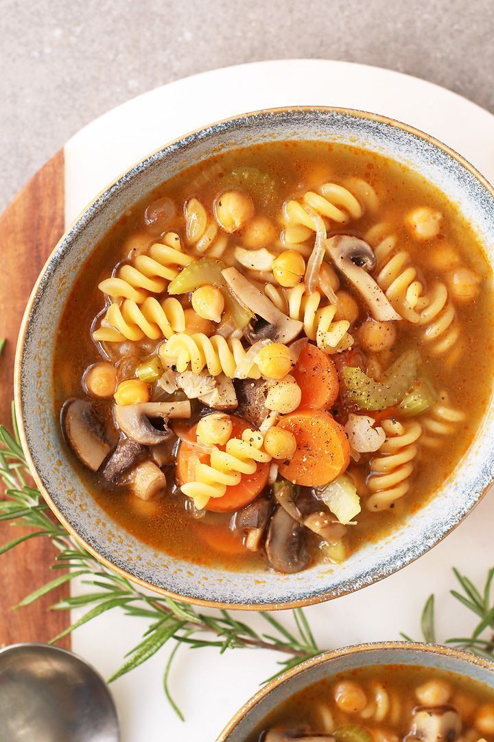 Cozy up with this Chickpea Vegetable Noodle Soup - filled with vegetables and noodles and seasoned with Italian herbs for a delicious fall meal. Made in under 30 minutes! Cozy up with this Chickpea Vegetable Noodle Soup - filled with vegetables and noodles and seasoned with Italian herbs for a delicious fall meal. Made in under 30 minutes!