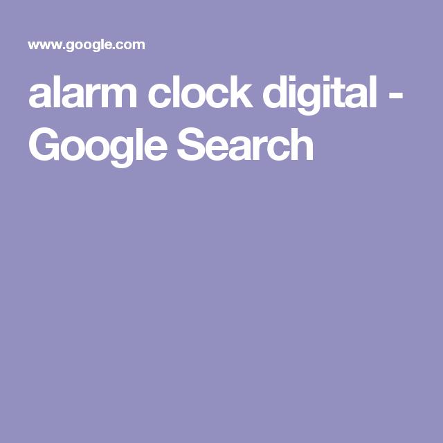 alarm clock digital  - Google Search