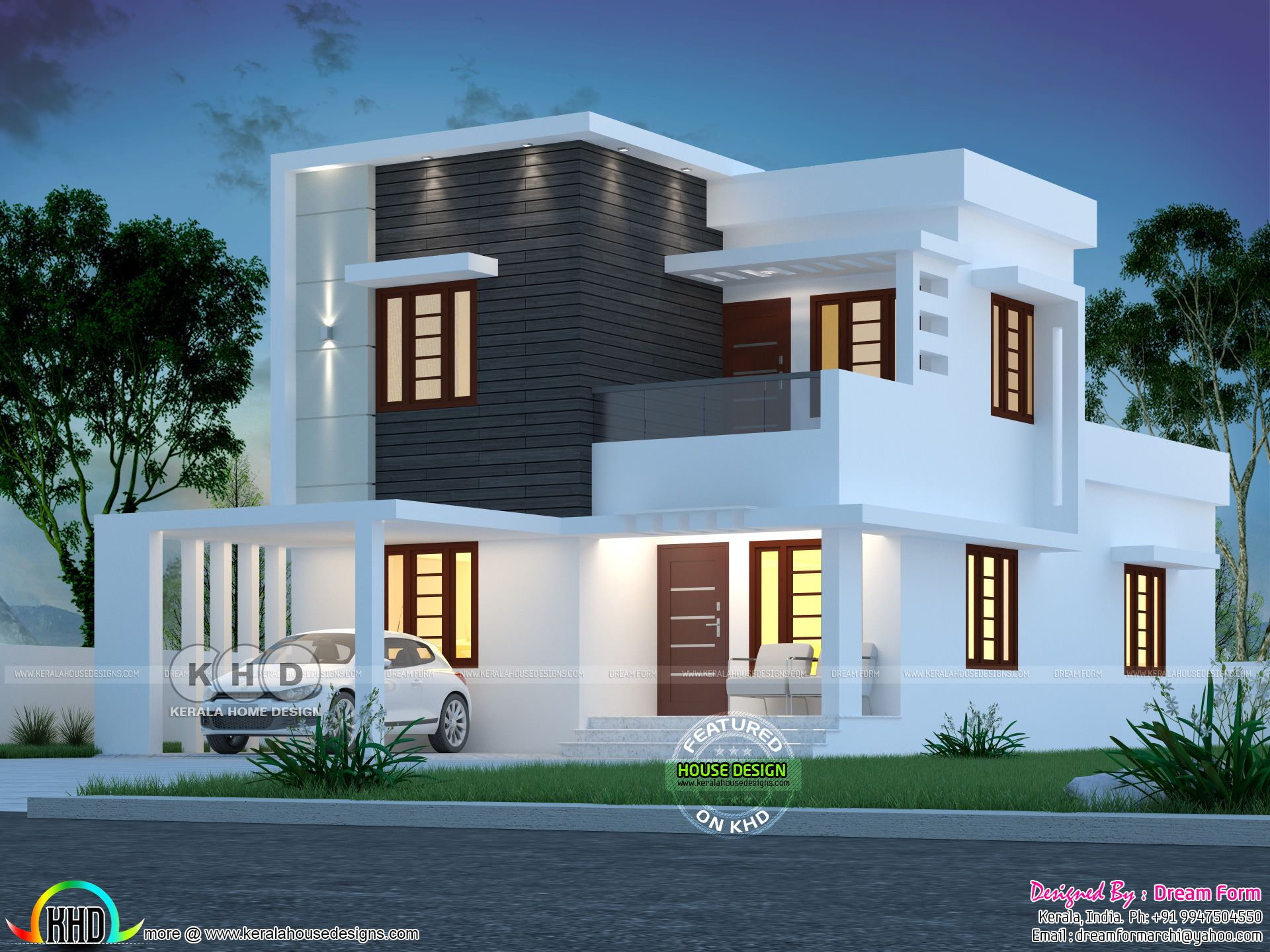 4 Bedroom 1670 Sq Ft Modern Home Design In 2020 Modern Bungalow