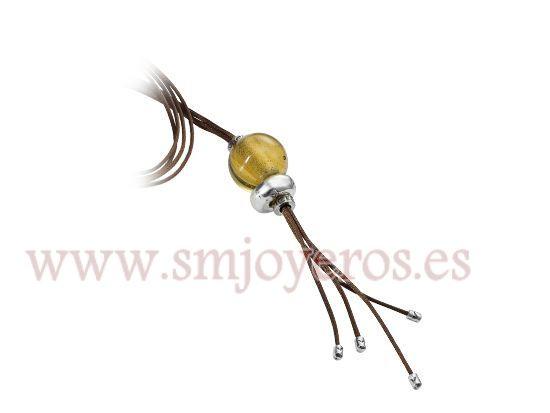 Collar largo Viceroy Fashion. Colección HEADSAIL. Bola murano amarillo.  REFERENCIA: 4046C01112  Fabricante: Viceroy