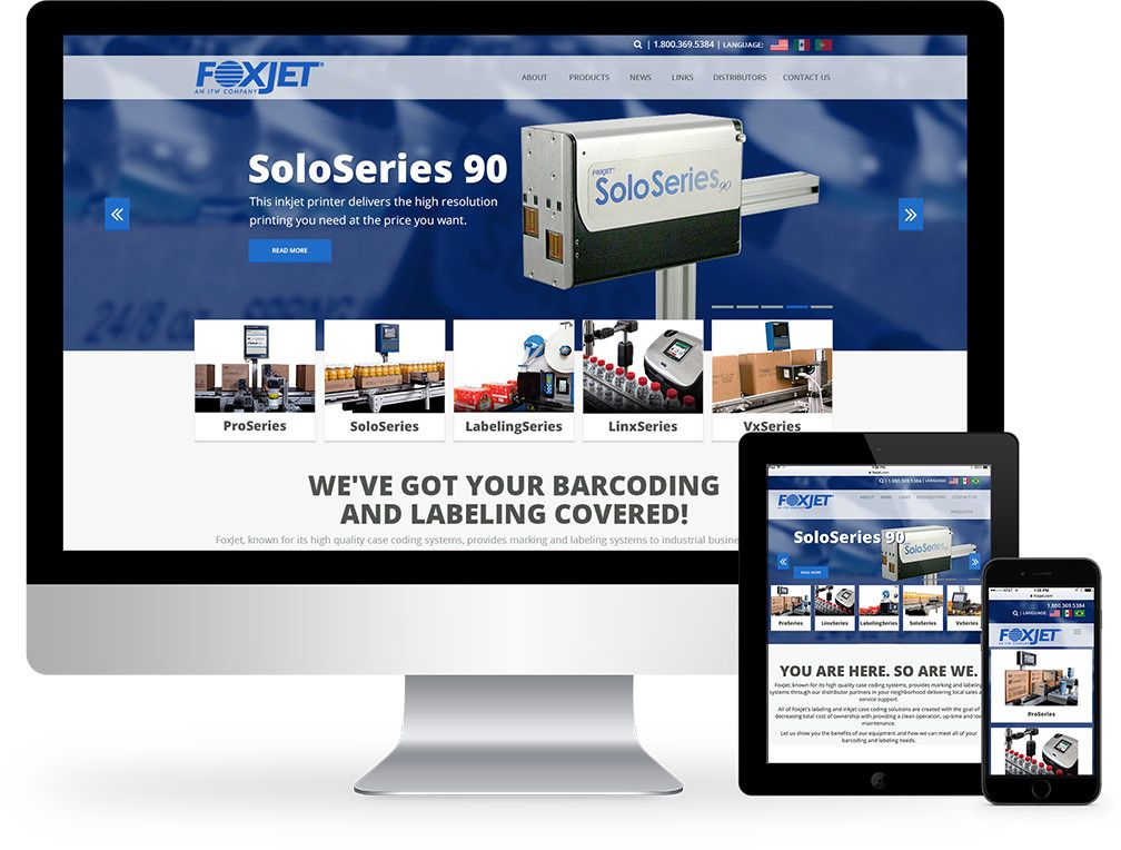 Foremost Media Our Work Manufacturing Sites Foxjet Website Design Design Manufacturing