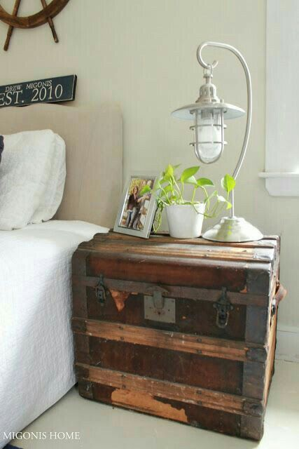 new style 6fba9 81928 Vintage Trunk As A Nightstand | For The Home | Diy home ...