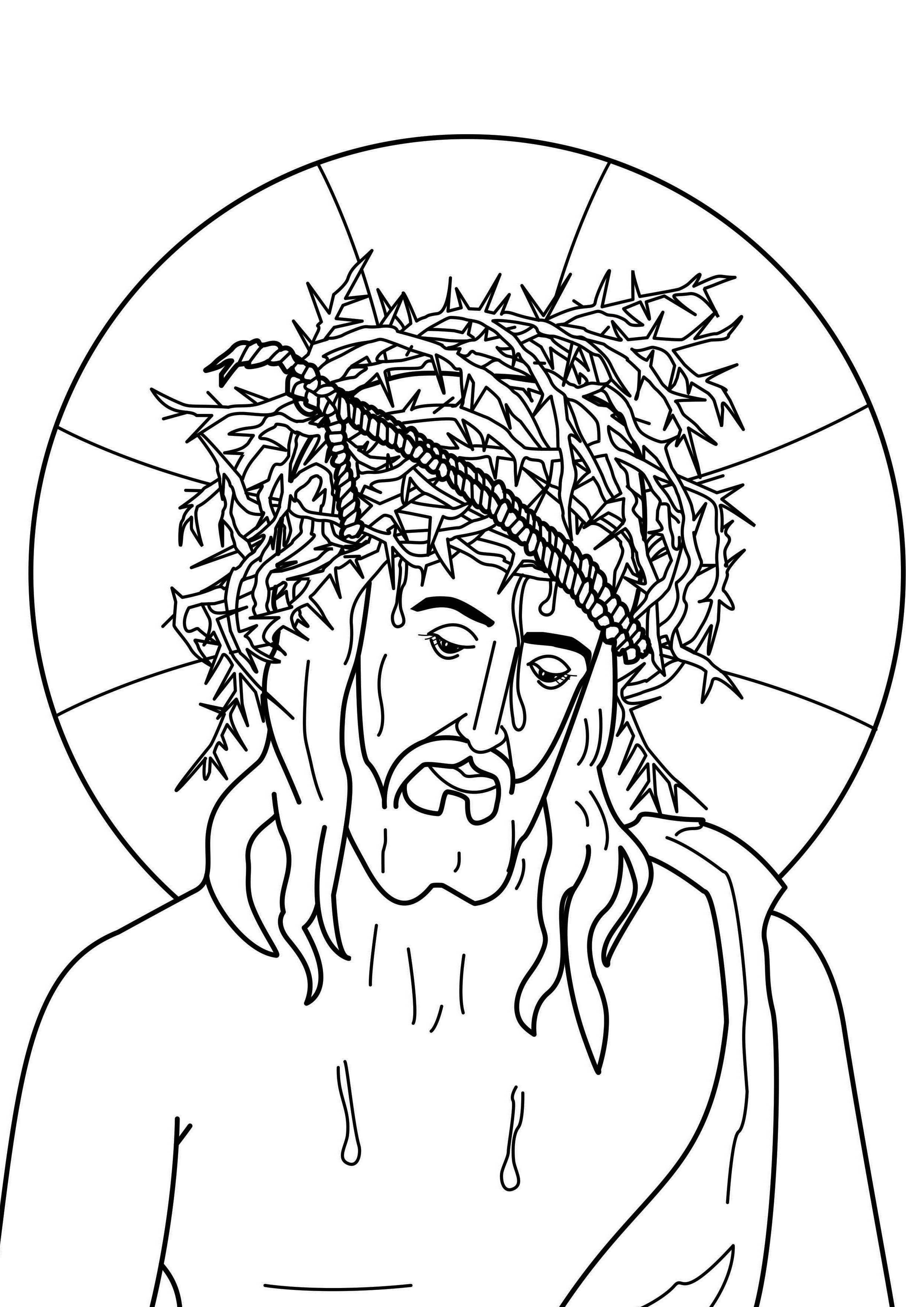 Passion Of The Christ موسوعة صور الكتاب المقدس للتلوين صفحات