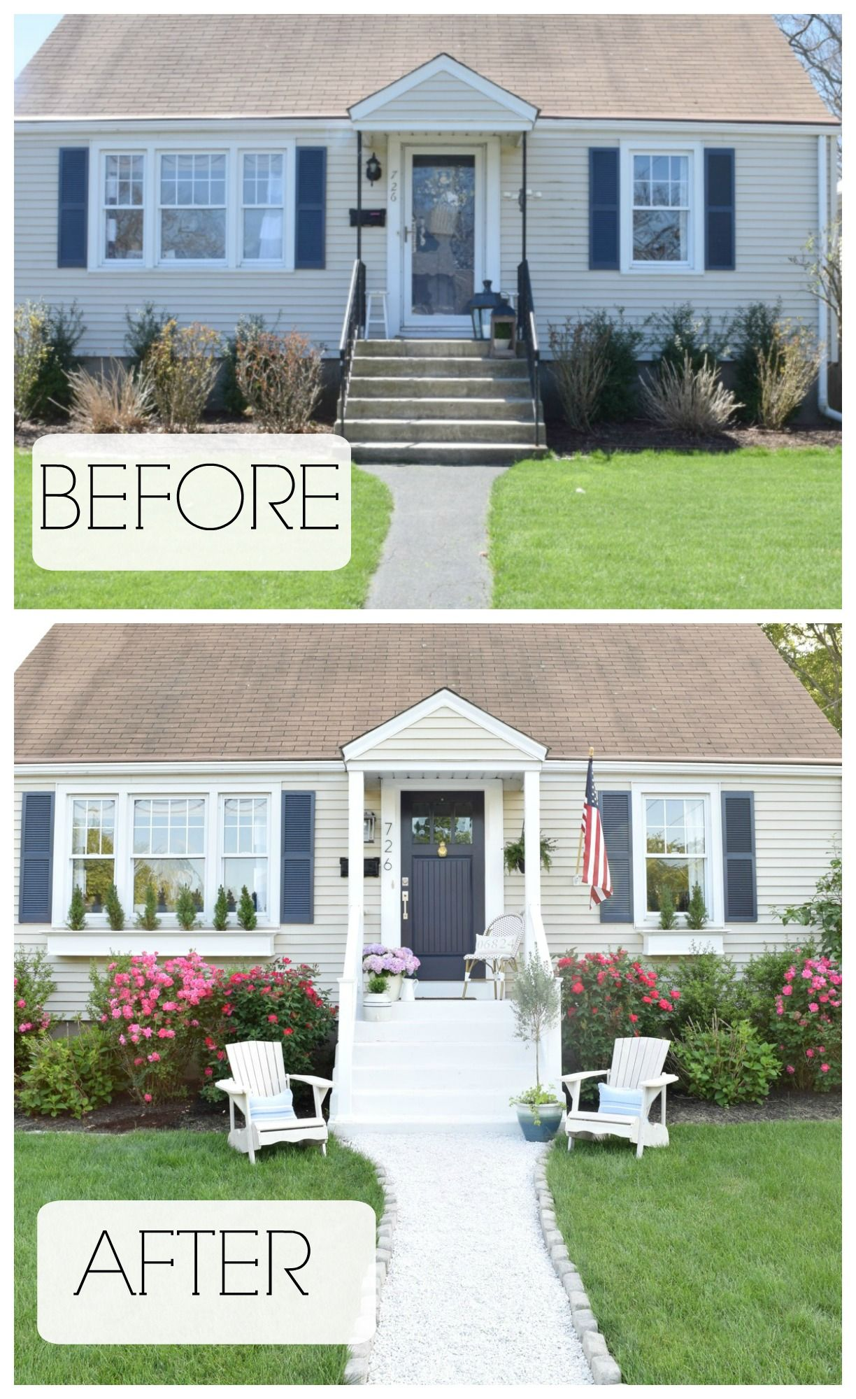 Exteriores De Casas Summer Home Tour Exterior Reveal Before And After Homes Casas