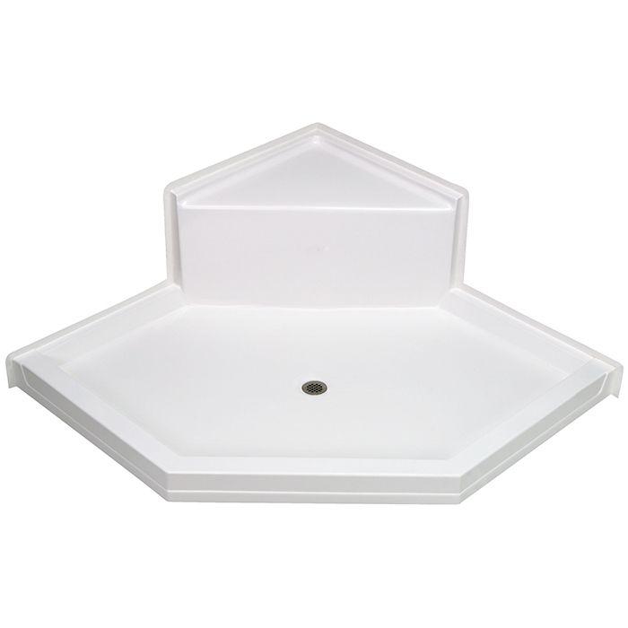 Aquarius Acrylx Neo Angle Corner Shower Pan With Seat 60 W X 60