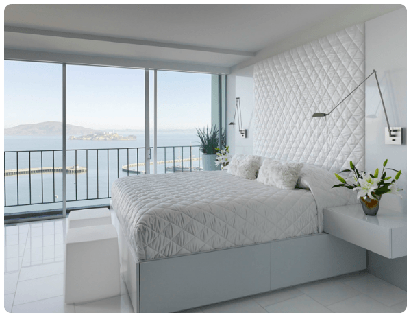 Quarto De Casal Inteiro Branco Interiores De Quarto Design De Interiores Para Apartamentos Design De Quarto Minimalista