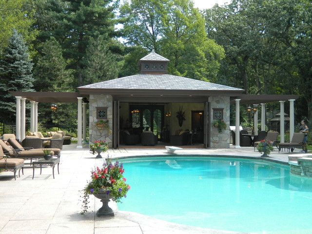 Good Pool House Ideas Part - 8: 2016 Inspiration For Pool House Design Ideas - Lighthouse Garage Doors -  Lighthouse Garage Doors - 2016 Inspiration For Pool House Design Ideas