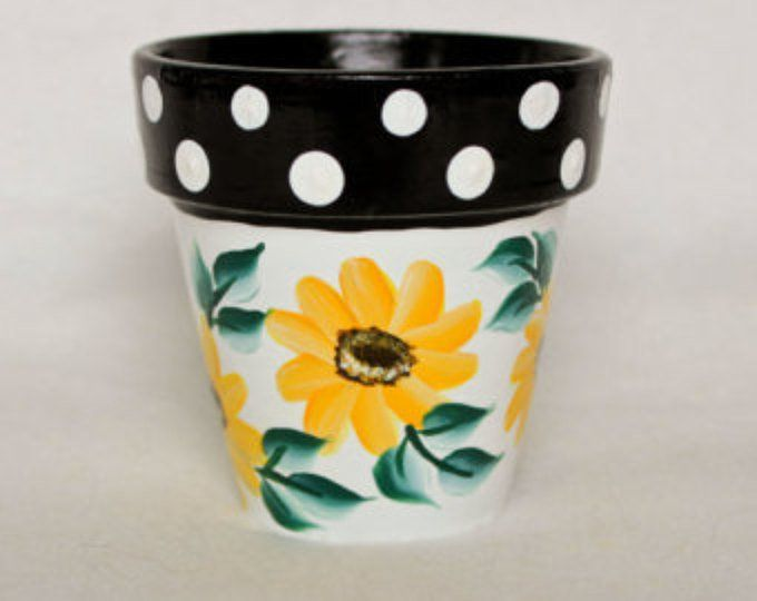 Items similar to Hand Painted  Flower Pot, Beach Theme on Etsy #flowerpotsoutdoor