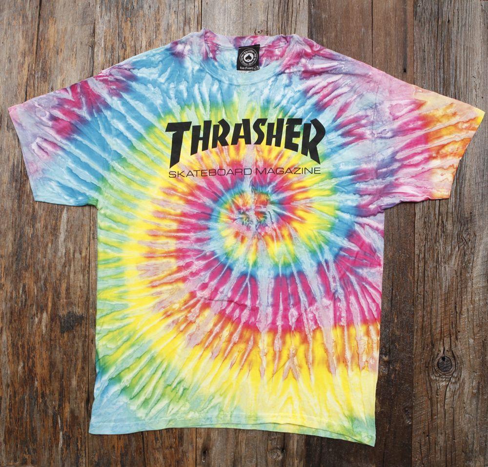 Thrasher tie-dye t-shirt  6a80379e1e30