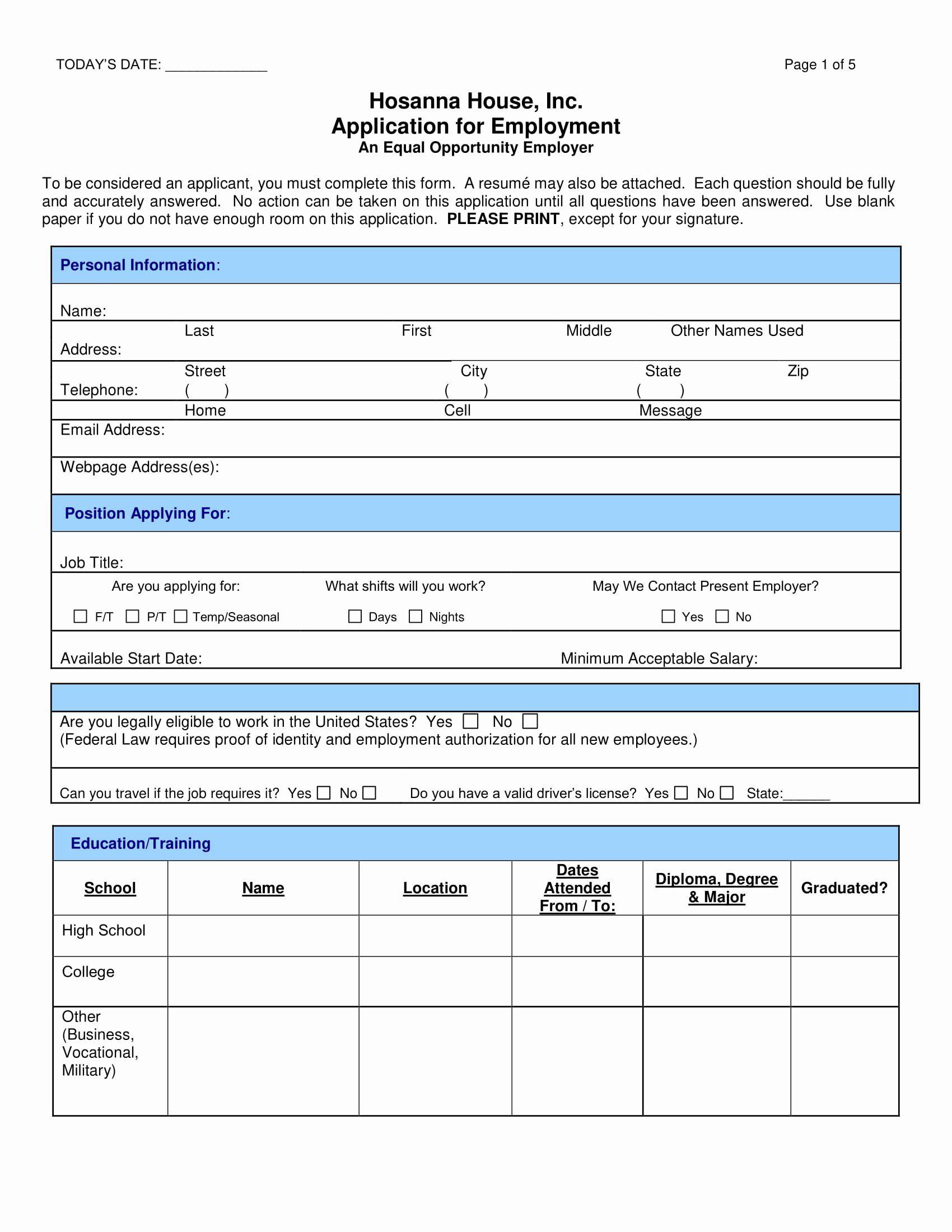 40 Jobs Application Form Pdf In 2020 Employment Application Job