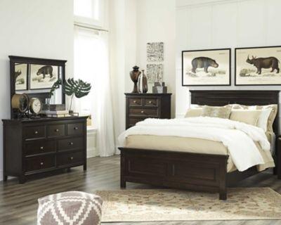Alexee 5 Piece King Bedroom By Ashley Homestore Dark Brown