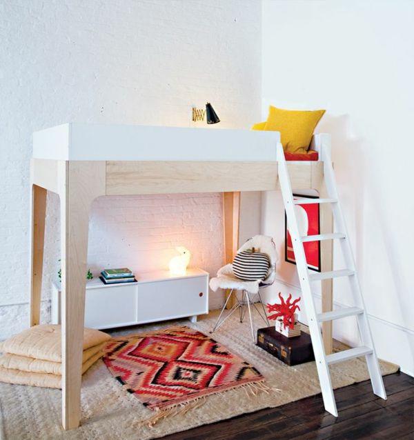 Hochbett design  kinderzimmer hochbett design teppich | Interieur | Pinterest ...