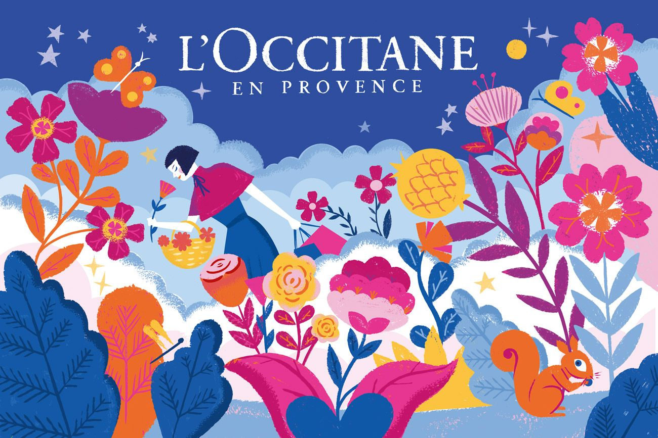 Pin By L Xinlin On L Occitane Web Graphic Design Packaging Design Inspiration Illustration Design
