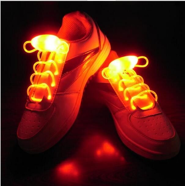 1 x Pair LED Flashing Light Up Shoelaces Glow in the Dark Colour GREEN