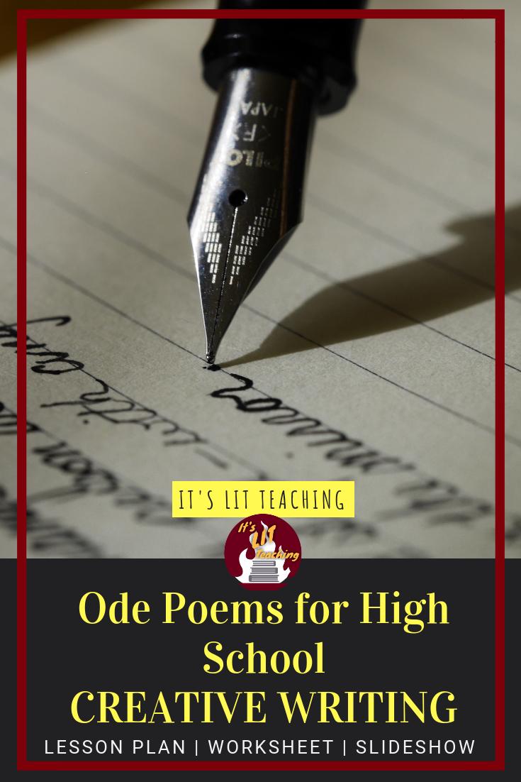 Every high school creative writing class should teach how to write