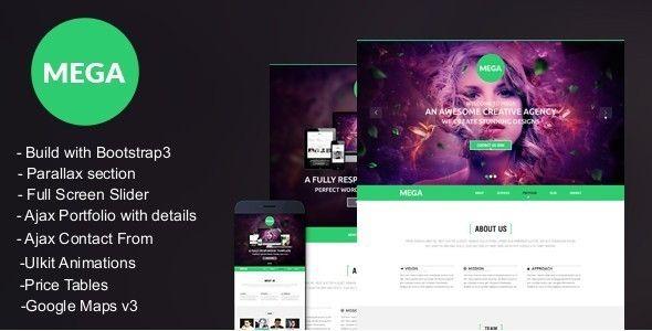 mega responsive onepage parallax template template responsive