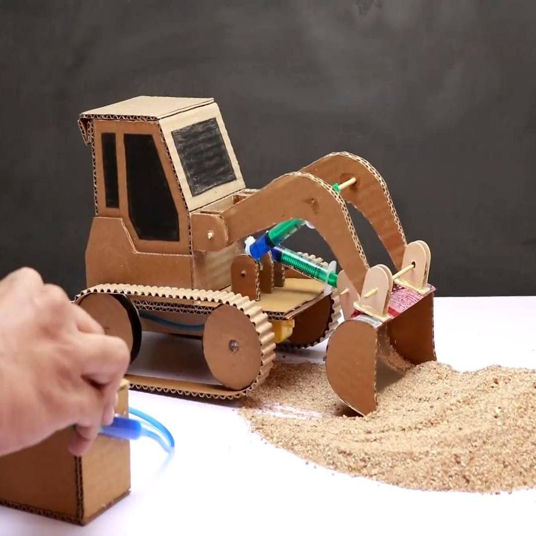 How To Make Jcb Bulldozer At Home Crafts Crafts For Kids Diy Crafts