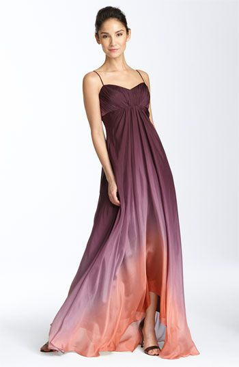 JS Collections Ombré Chiffon Gown available at #Nordstrom | My ...