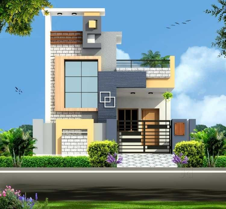 Two Floors Building Independent House House Designs Exterior House Elevation