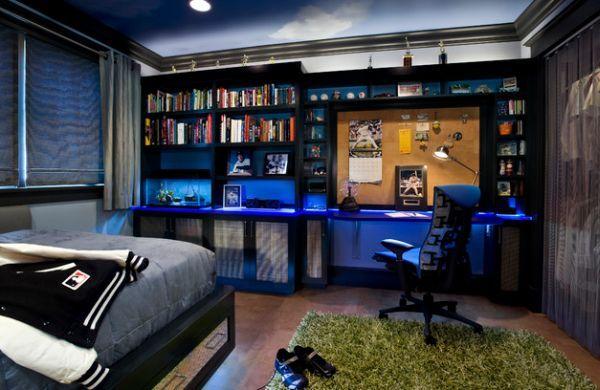 Jugendzimmer für jungs  Jugendzimmer für Jungs-Einrichtung Beleuchtung-Ideen | Kevin ...