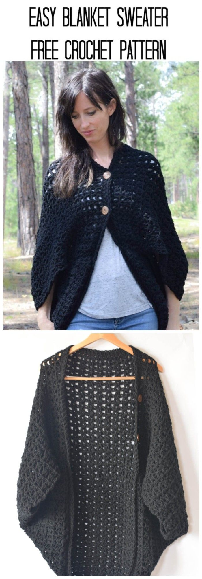 Cozy And Stylish Crochet Sweater - Patterns And Ideas #blanketsweater